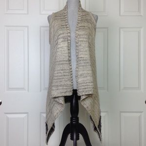 BCBGMaxAzria Long Sleeveless Cardigan Sweater Sz L